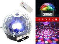 ZS39A KULA DYSKOTEKOWA DISCO BLUETOOTH DJ MP3 LED