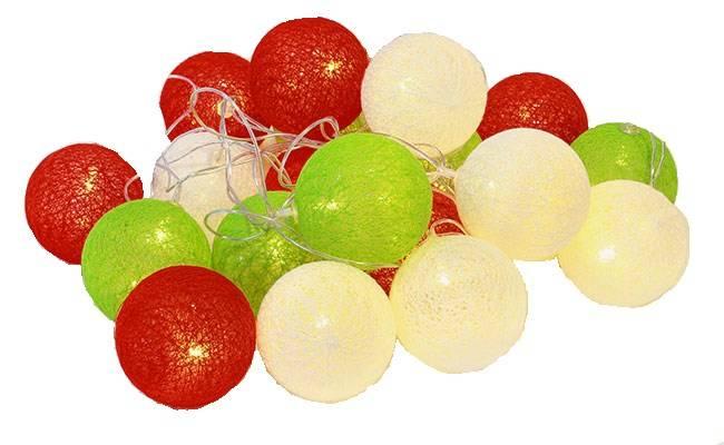 Zd69c Girlanda Cotton Balls 20 Kule Led