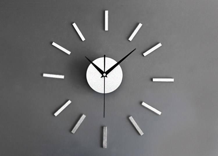 Zg12 Zegar ścienny Naklejany Nowoczesny 3d Diy