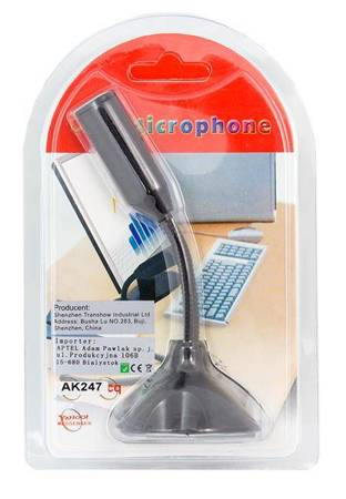 AK247 MINI MIKROFON USB STATYW SKYPE LAPTOP PC